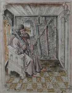 """Johannes Liechtenauer (fl. 1360s - 1380s) is a murky figure, known as the grandmaster of school of swordsmanship that flourished throughout much of the German-speaking lands of the Holy Roman Empire, particularly in the southern regions of Swabia, Bavaria and Austria. Although likely of about the right age to have been a mentor or tutor to a young Fiore dei Liberi, there is little real proof to connect him to the """"John of Swabia"""" mentioned in the Pisani-Dossi manuscript. (Cod. 44 A 8, Bibliotheca dell'Academica Nazionale dei Lincei e Corsiniana.)"""