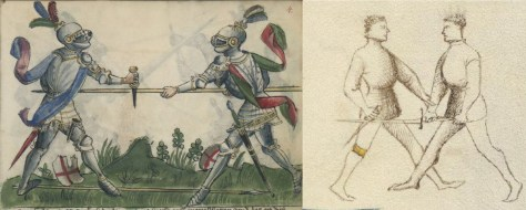 Dagger vs. Spear (Gladiatoria) and Dagger vs. Sword (dei Liberi).