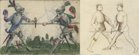 Dagger vs. Spear (Gladiatoria) and Dagger vs. Sword (dei Liberi).