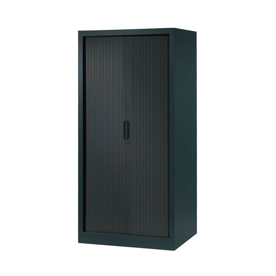 armoire a rideaux 160x80 anthracite