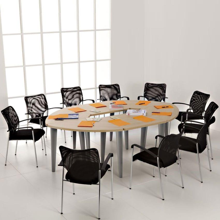 table de reunion ovale 10 personnes ligne elegance