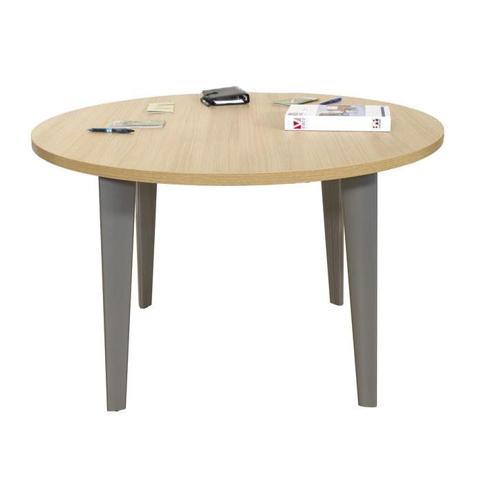 table de reunion ronde 4 personnes version 4 pieds ligne elegance