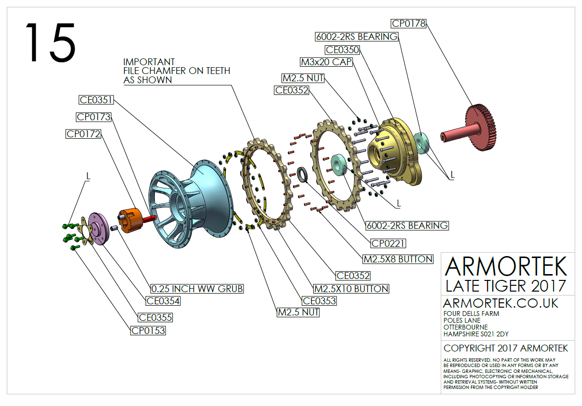 ARMORTEK Tiger 1 sprocket assembly