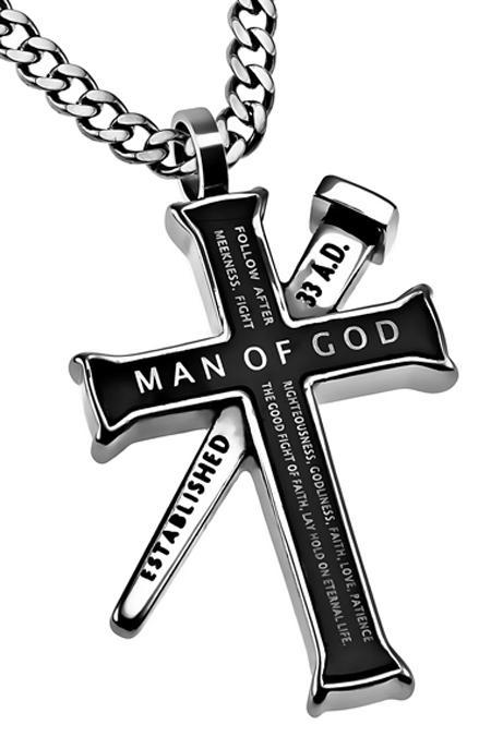 Cross necklaces for men black cross necklace fear not black aloadofball Images