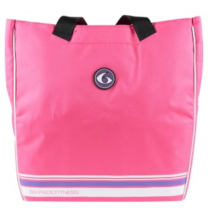 Camille Tote six 6 pack fitness pink