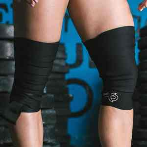 Knee Wraps (Black) by ExoSleeve ArmourUP Asia Singapore