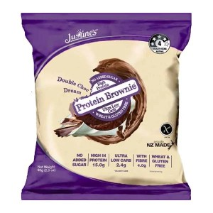 Justine's Complete Protein Brownie Double Chocolate Dream 80g ArmourUP Asia Singapore