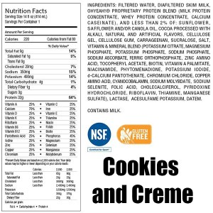 OhYeah RTD Nutritional Shakes 414ml Cookie and Creme ArmourUP Asia Singapore ArmourUP Asia Singapore