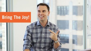 Brendon Burchard smiling | bring the joy