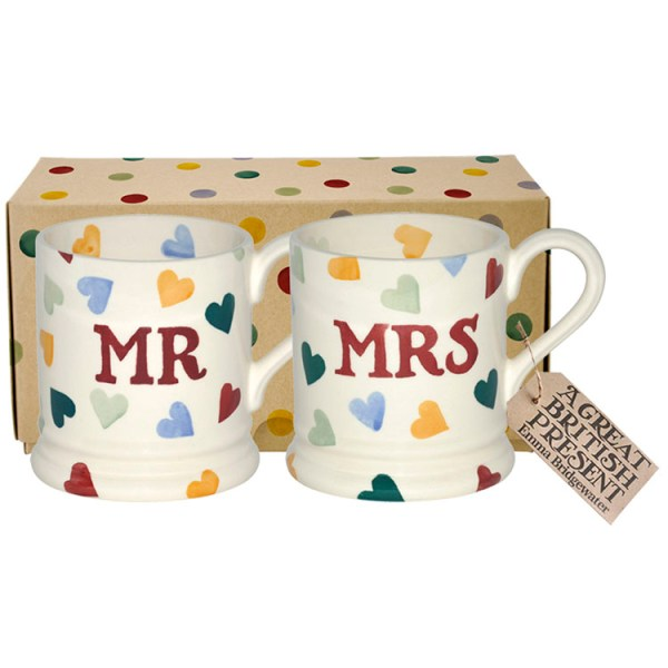 Emma Bridgewater - Mr & Mrs Polka Mugs 1