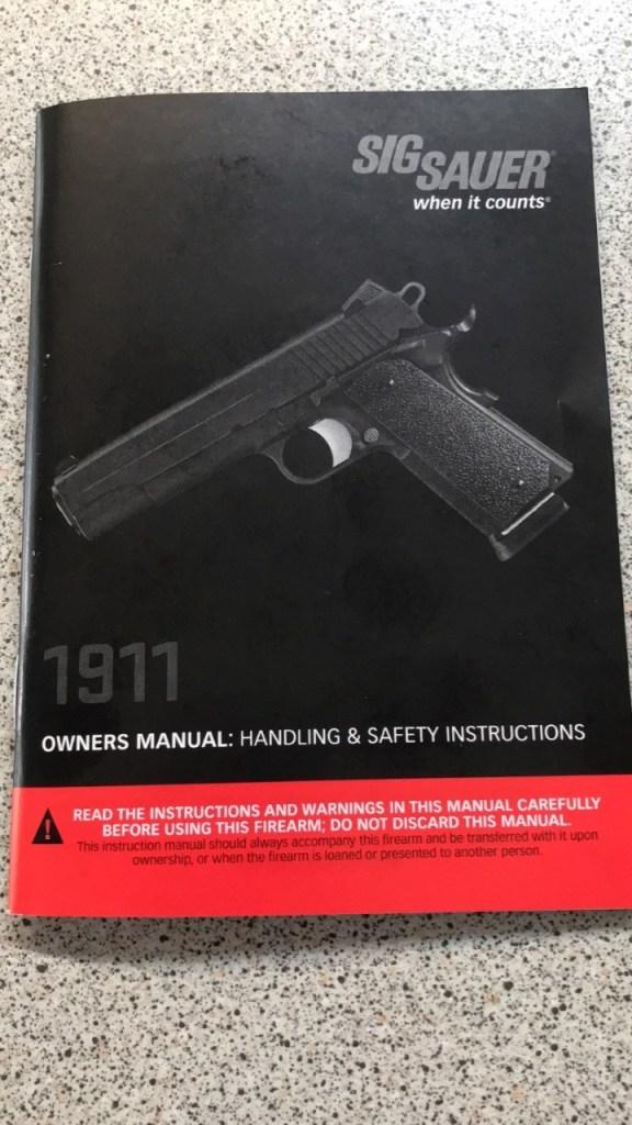 sig sauer 1911 notice