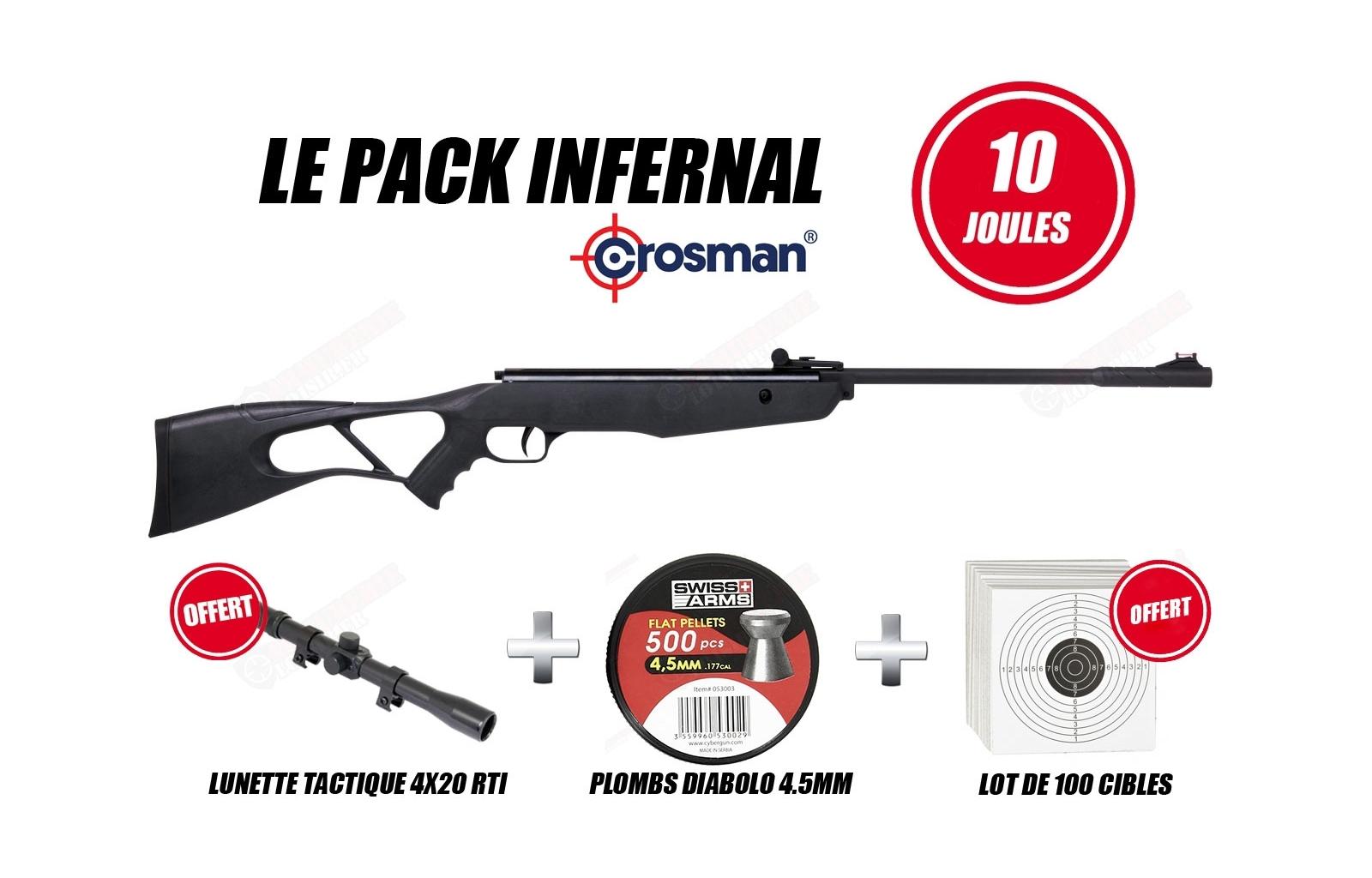 Pack Carabine Crosman INFERNO 45mm 10 Joules
