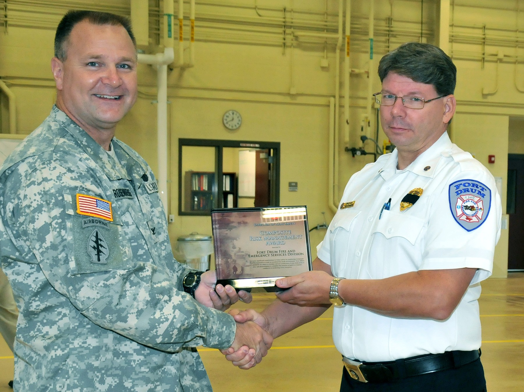 Fort Drum Fire Department Named Best In Army For Risk