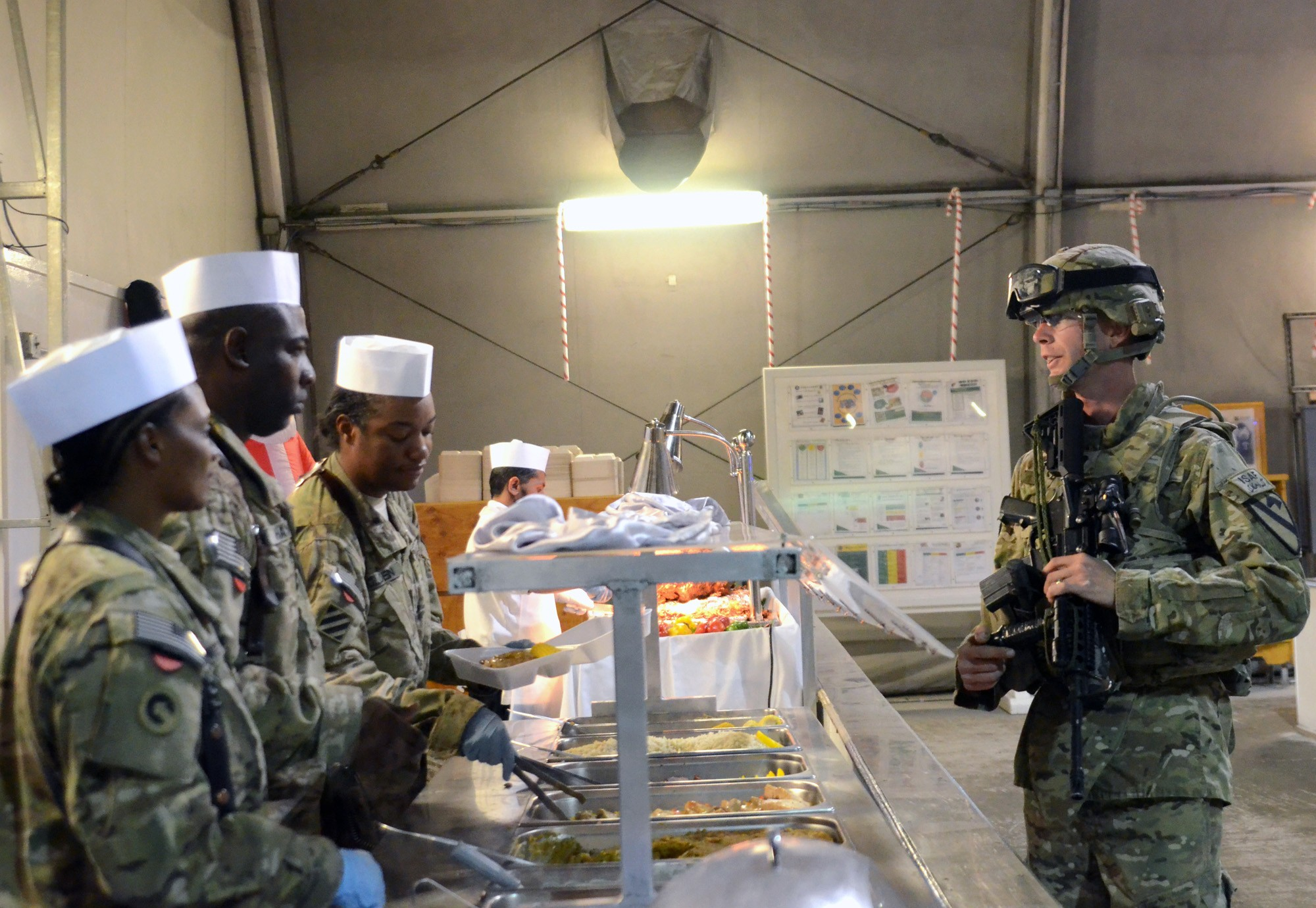 Christmas Dinner At Bagram Airfield
