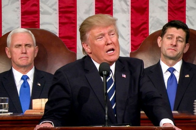 "President Donald J. Trump told a joint session of Congress Tuesday night that the United States will work with a coalition to ""extinguish"" the Islamic State of Iraq and Syria from the planet."