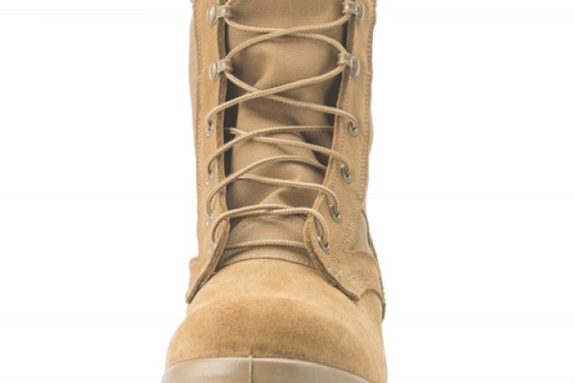 The Army Jungle Combat Boot, under development now, features a low-height heel to prevent snags on things like vines in a jungle environment; additional drainage holes to let water out if it becomes completely soaked, speed laces so that Soldiers can don and doff the boots more quickly, a redesigned upper to make the boots less tight when they are new, an insert that helps improve water drainage, a lining that helps the boot breath better and dry faster; a ballistic fabric-like layer under a Soldier's foot to help prevent punctures, and a foam layer between the rubber sole and the upper to provide greater shock absorbing capability. The JCB will be issued this spring and summer to two full brigade combat teams in Hawaii, part of the 25th Infantry Division, for evaluation.