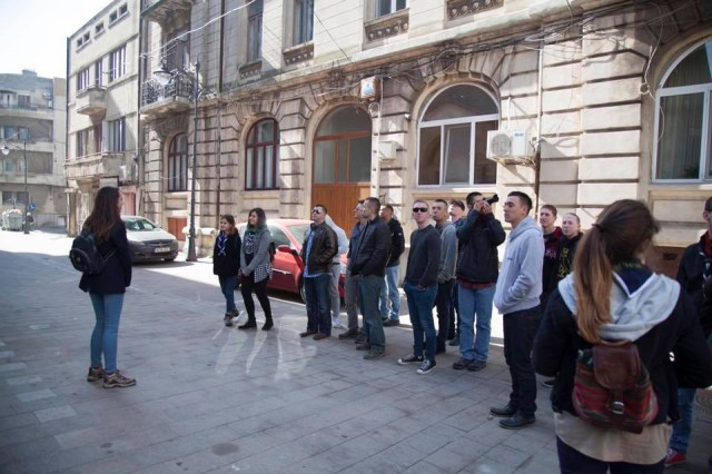 Soldiers of 1st Battalion, 8th Infantry Regiment, 3rd Armored Brigade Combat Team, 4th Infantry Division, take a cultural tour of Constanta, Romania, led by local youth scouts on March 4, 2017. The battalion has emphasized community outreach as it participates in Atlantic Resolve to collectively train with Romanian Defense Forces and strengthen the credible deterrent capabilities available in southeastern Europe.