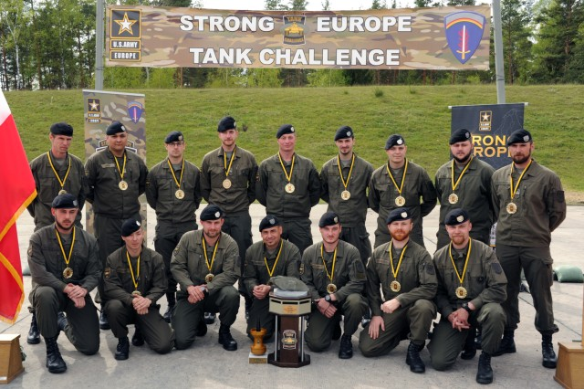 The Austrian platoon took top honors in the second annual Strong Europe Tank Challenge, with Germany and the U.S. placing second and third, May 12, 2017.