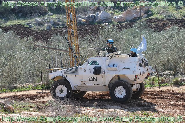 French VBL Panhard Light Armoured Vehicle on patrol in South Lebanon