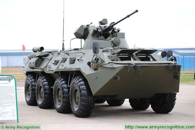 The interest of foreign customers to BTR-80A/82A will be stable in the years to come, as it is a relatively inexpensive, reliable and effective APC, being able to deliver sufficient firepower to dismounted soldiers. BTR-80A/82A has an IFV firepower in an APC form-factor