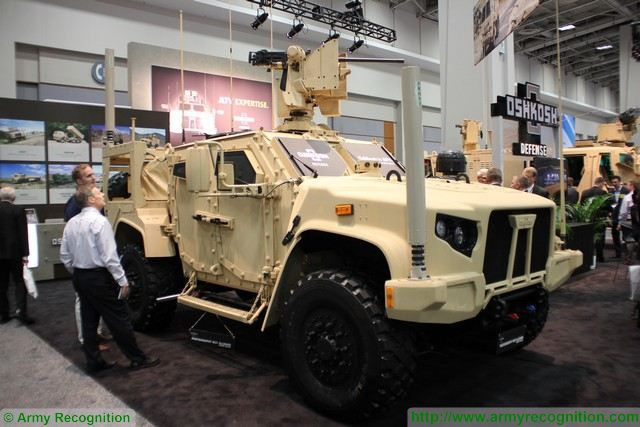 An Oshkosh Joint Light Tactical Vehicle Jltv With The New Reconfigurable Moog Riwp Turret 3200x3133