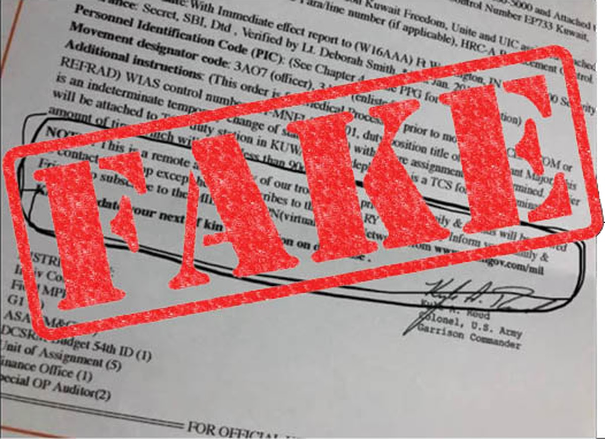 A Fake Deployment Letter Scam Is Making The Rounds On Fort Bragg