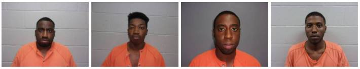 the four soldiers arrested after a drive-by shooting