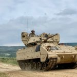 Soldiers Will Run A Platoon Attack Of Robot Vehicles From A Bradley In A Test