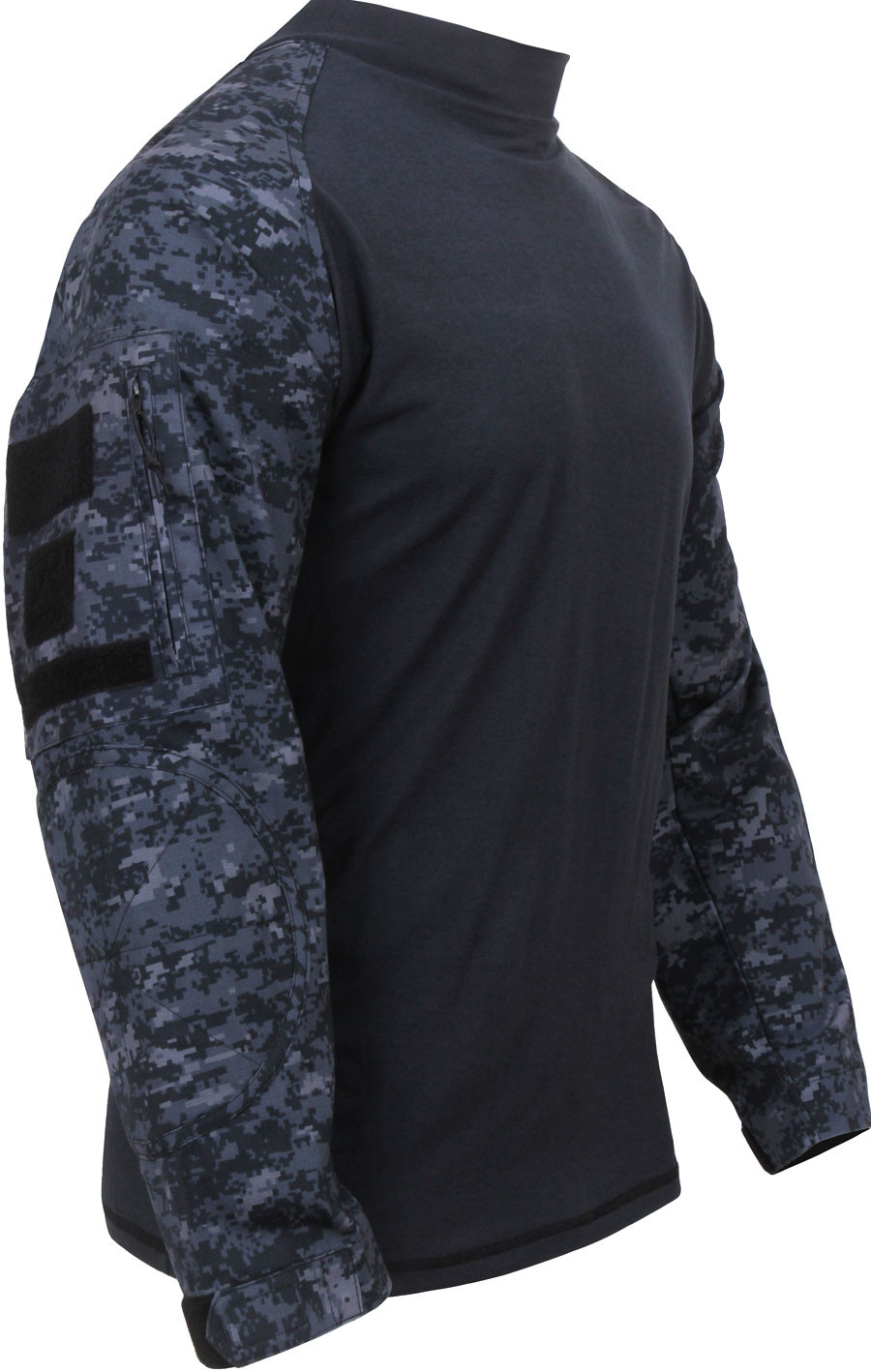 Midnight Digital Camouflage Military Long Sleeve Tactical