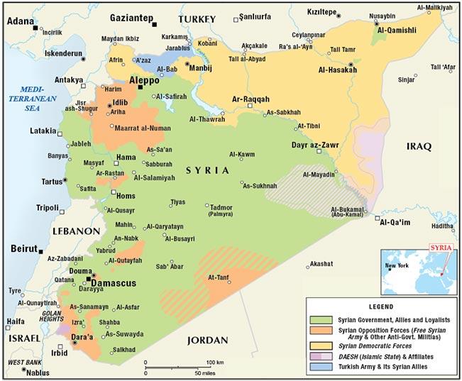 igure 3. Syrian Civil War: Territorial Control Map as of November 2017