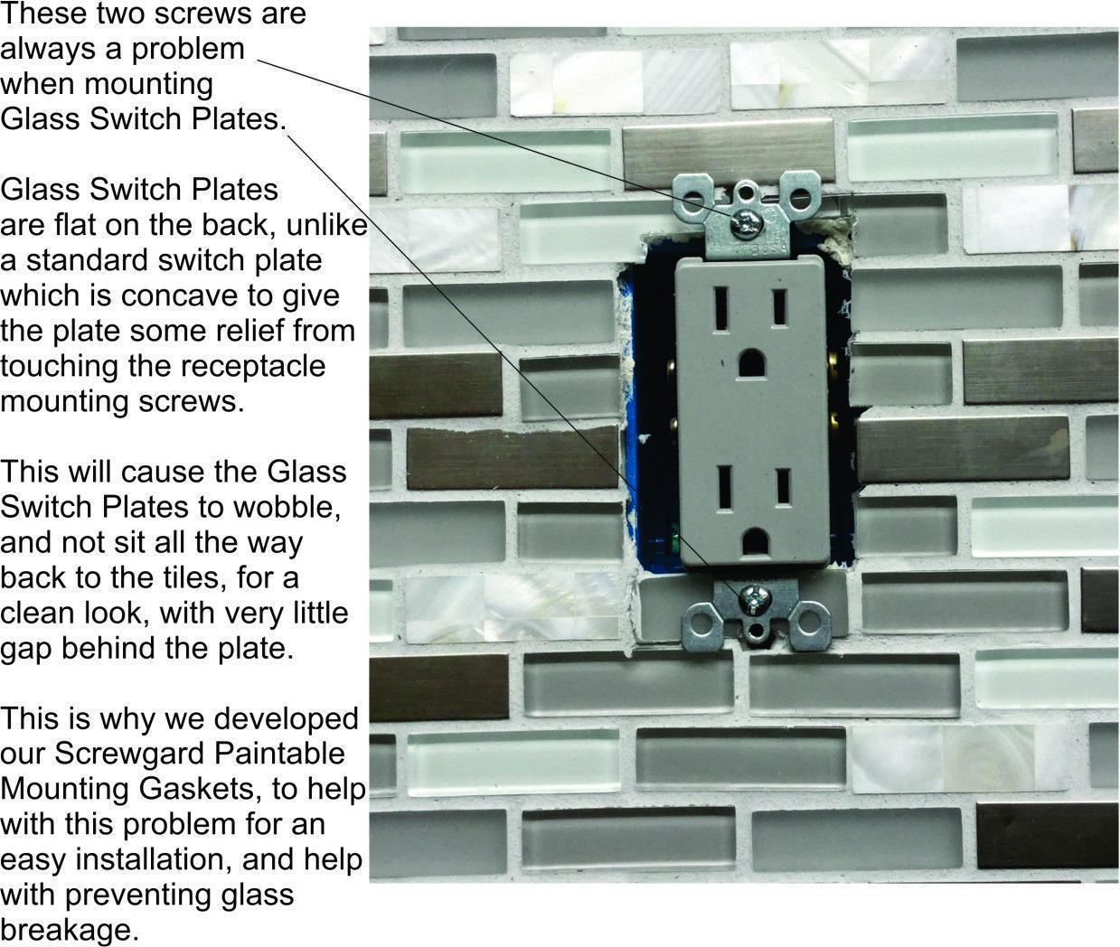 beveled glass switch plates