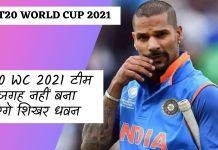 India News Cricket T20 WC 2021 Shikhar Dhawan