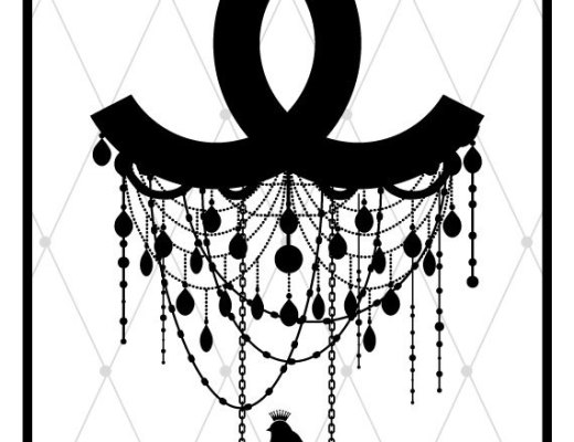 Coco Chanel art print - logo fashion poster