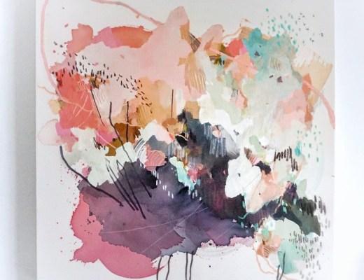 Sarah Delaney artist - Naramata in rose