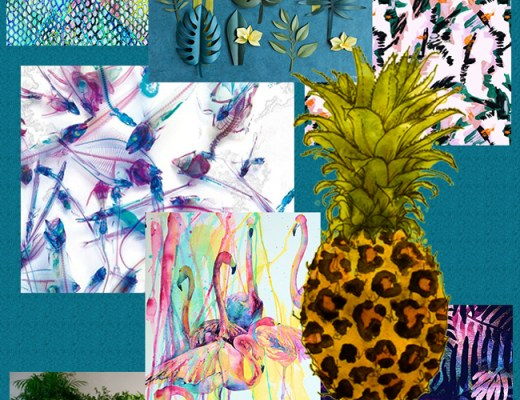 Tropical trend mood board by Arnold & Bird - product development consultancy and design