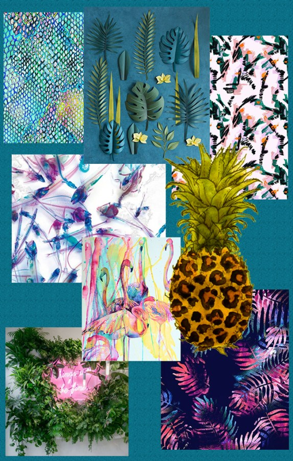 Moody tropical trend mood board by Arnold & Bird - product development consultancy and design