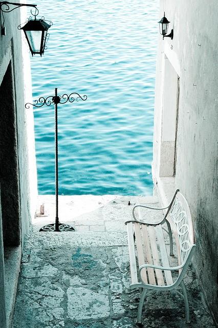 Bench by the Sea, Rovinj, Croatia