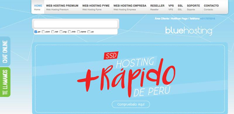 bluehosting peru proveedor hosting
