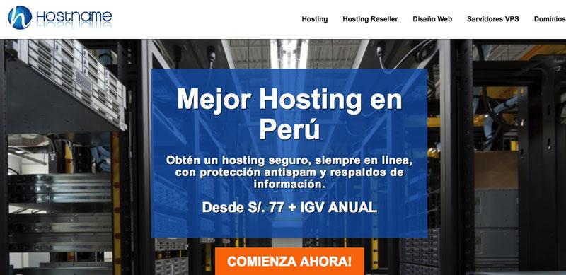 hostname proveedor hosting peru
