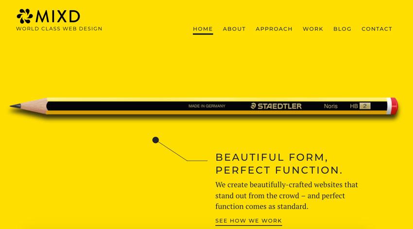 mixd diseno web minimalista