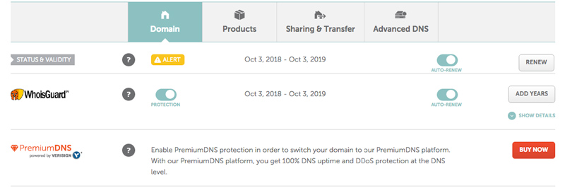 validar dominio namecheap