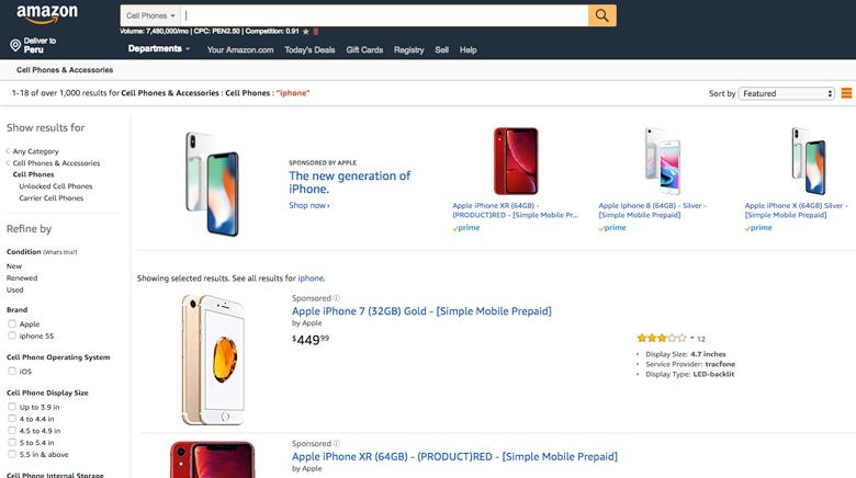 amazon comprar iphone desde usa a peru