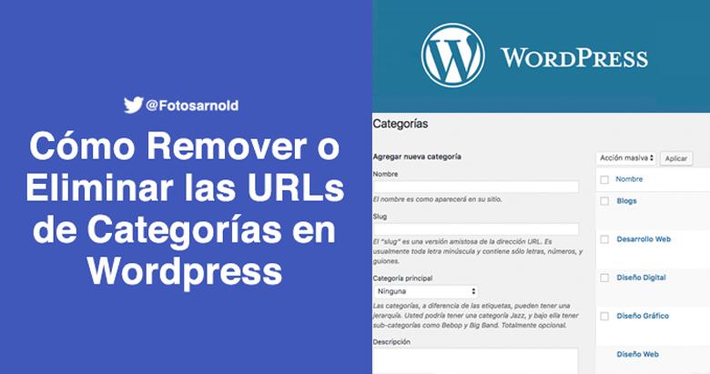 eliminar categorias urls wordpress
