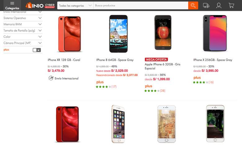 linio comprar iphone peru