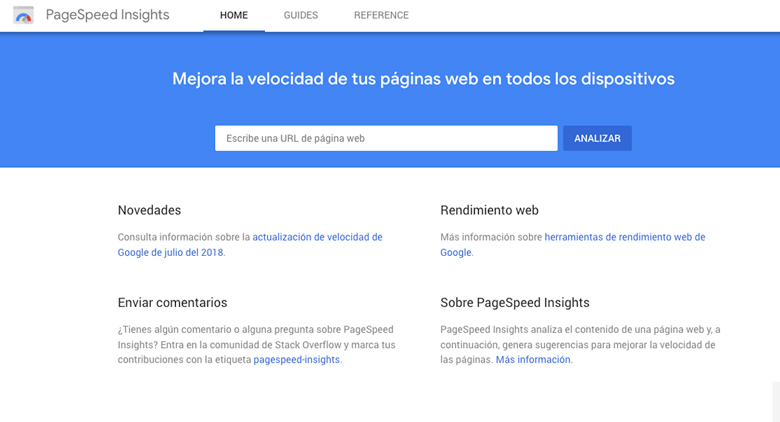 pagespeed insights herramientas google