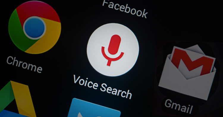 la búsqueda de voz
