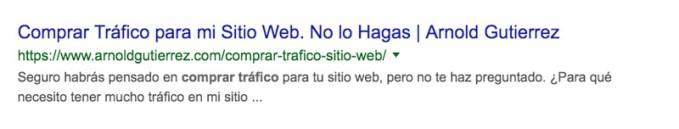ejemplo de resultados sin fechas en google