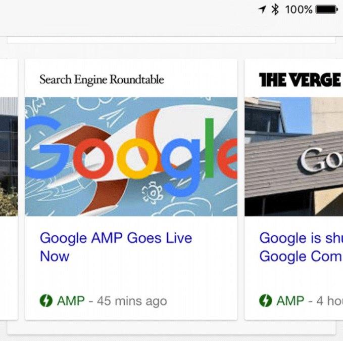 google carrusel version amp moviles