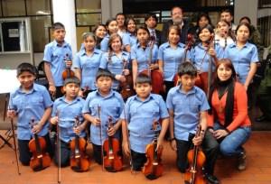 Die Kinder des Jugendorchesters