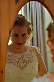 Hoe zie ik er uit in mijn bruidsjurk?